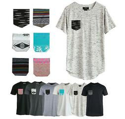 6 Pack Lot Beautiful Giant Mix Men's Casual Short Sleeve T-S