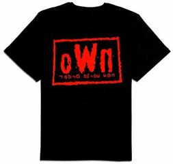 Adult Men's WCW Wrestling NWO New World Order Red Ink Wolfpa