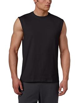 Russell Athletic Men's Cotton Muscle Shirt, Black, Large