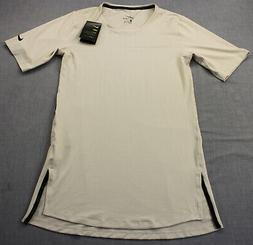 NIKE Dri Fit Mens Beige Hidden Pocket Utility Training SS To