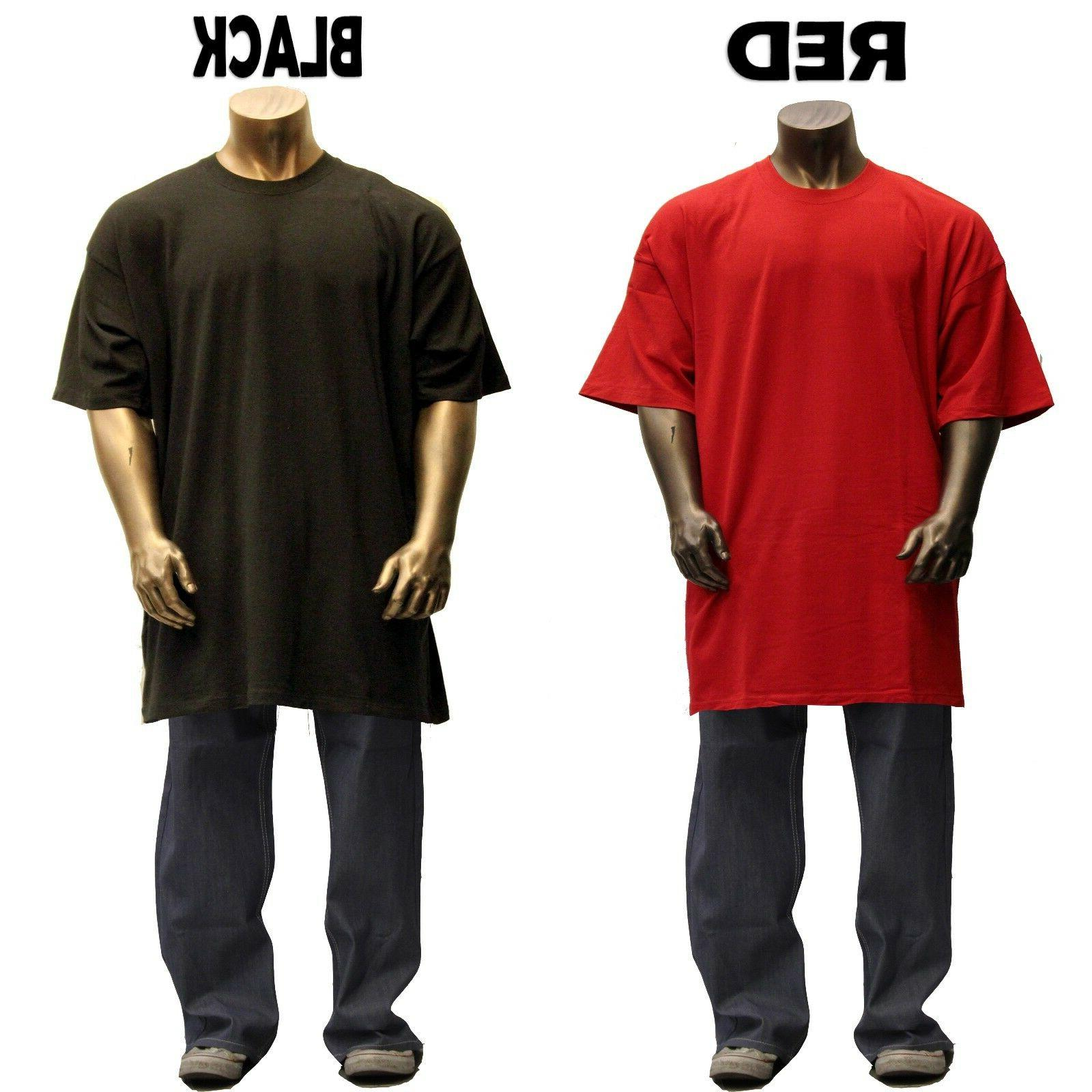 Big and Tall Men S/S Crew Solid 8OZ