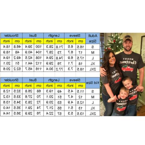 Christmas Family Matching Tops Women Baby Kids T Tees