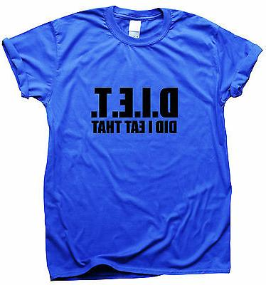 DIET funny T-shirt womens humour ladies top