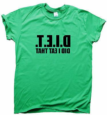 DIET funny T-shirt womens humour top