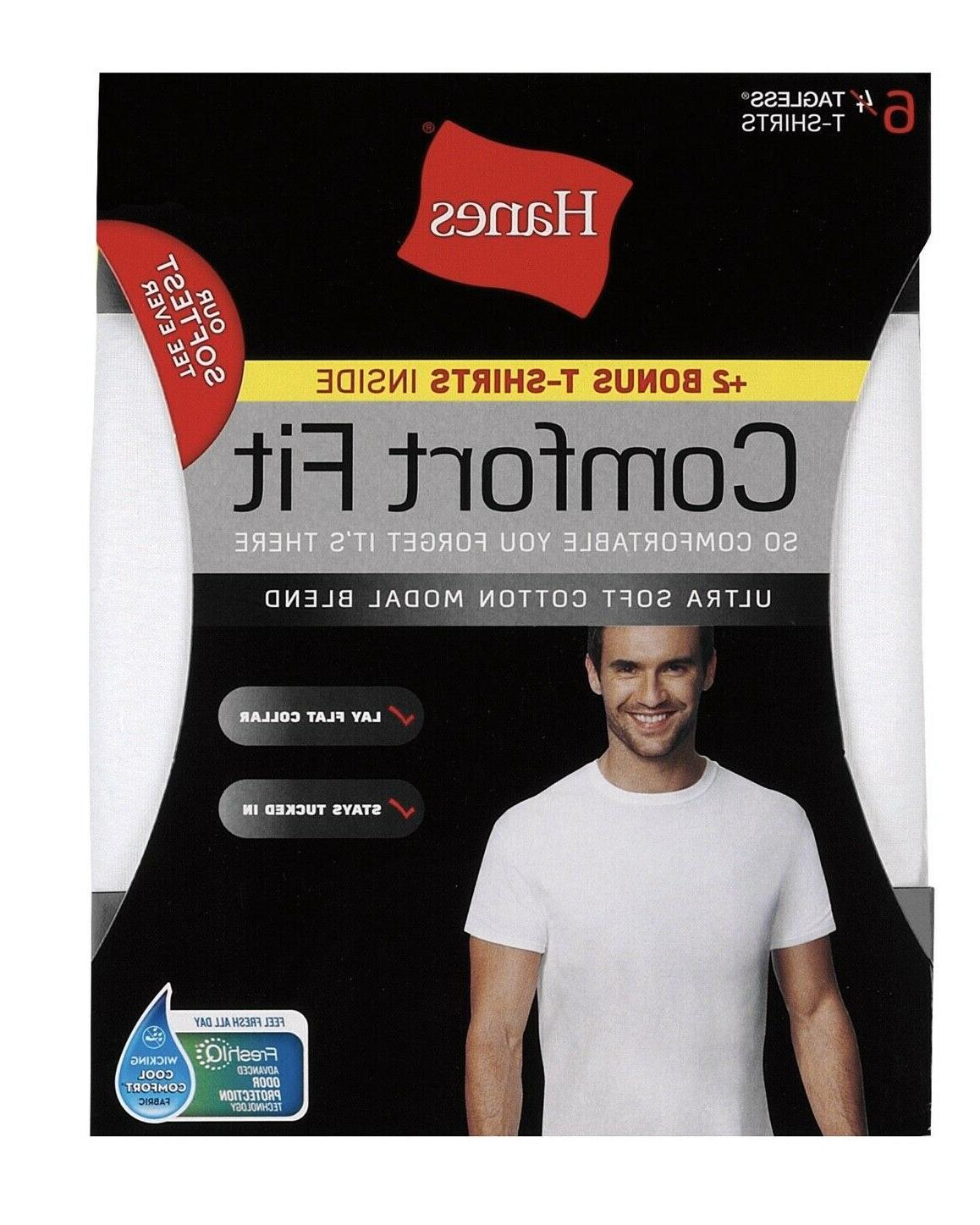mens 6 pack comfort fit t shirts