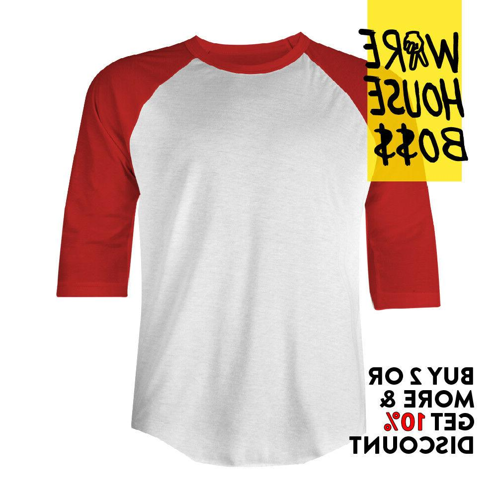 MENS SHIRT SHIRTS 3/4 SLEEVE TEE TWO-TONED PARTY