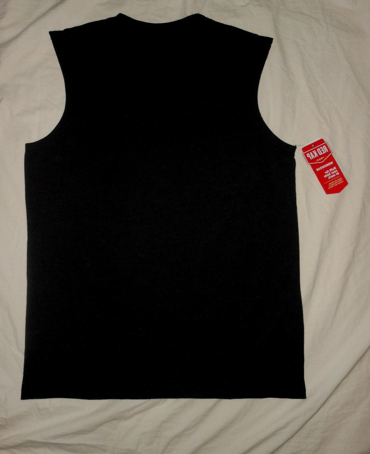 RED Mens NWT Muscle Tee Shirt Athletic