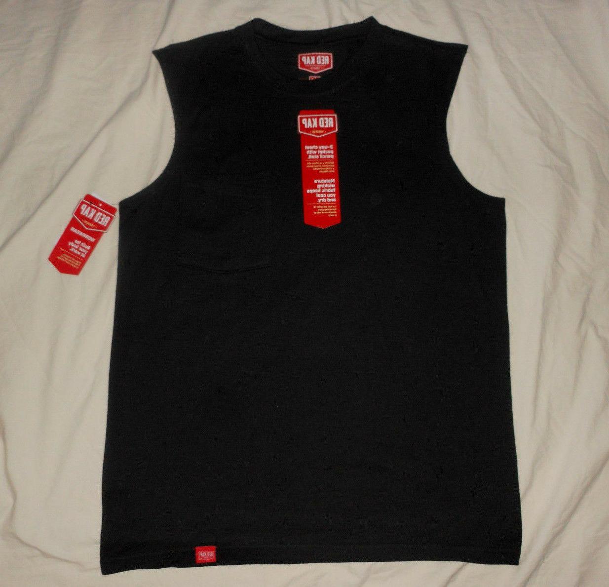 mens m nwt black sleeveless workwear muscle