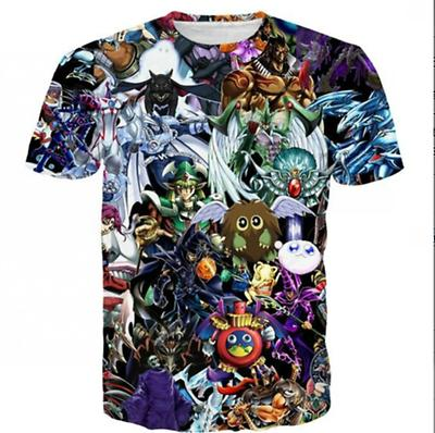 New Fashion Womens/Mens YuGiOh Monster Funny 3D Print Casual