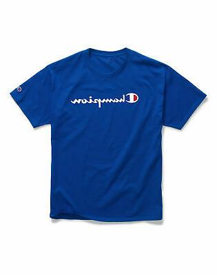 T-Shirt Mens Champion Jersey Tee Logo Athletic Fit 100% Cotton
