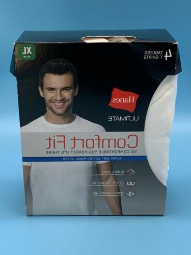 ultimate comfort fit 4 pack white tagless