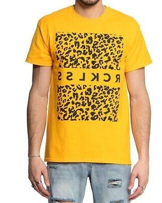 young and reckless mens t shirts yellow
