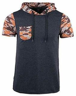 Men's 3D Graphic Jacquard Short Sleeve Casual Fashion Hooded