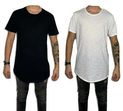 Men's Basic T-Shirt Casual Extended Length Long Fashion Tee
