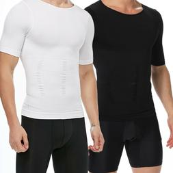 Men's Compression Body Shaper Vest Undershirt Abs Abdomen El