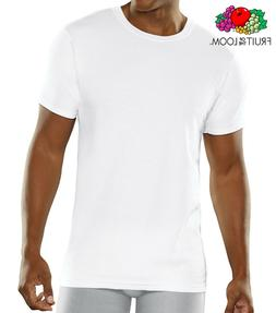 Fruit of the Loom Men's Cooling Cotton Mesh White Crew T-Shi