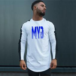 Men's Fitness GYM Athletic Running Long Sleeves Clothing Qui