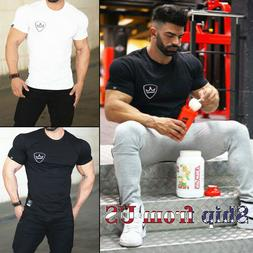 Men's Gym Workout Training Tee Bodybuilding Muscle Shaper Ca