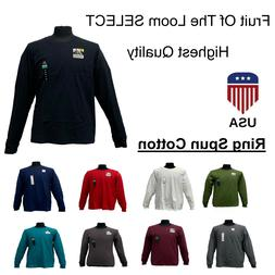 Men's Fruit Of The Loom SELECT Long Sleeve Tshirts Highest Q