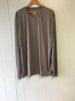 HANES  Men's T Shirt 100% Polyester Taupe 2XL Tall  #J340