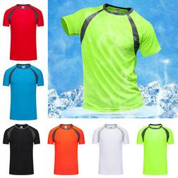 Men's T-Shirts Tops Sports Quick Dry Shirt Athletic Running