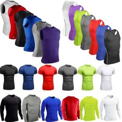 Mens Compression Base Layer  T-shirt Summer Fitness Workout