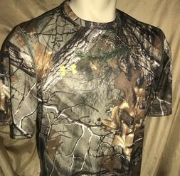 UNDER ARMOUR Mens LARGE  NuTech Scent Control Real-Tree Camo