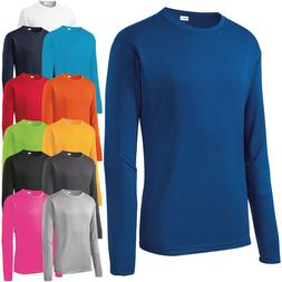 Mens Long Sleeve T-Shirt Base Layer Moisture Wicking Workout
