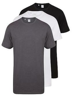 Mens Mans BLACK GREY or WHITE Extra Long Length Cotton Tee T
