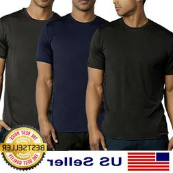 Mens New Athletic Moisture Wicking Dri Fit Gym Workout Sport