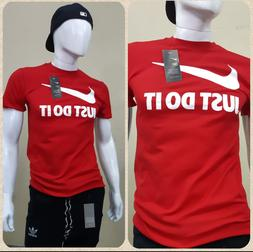 Nike Mens Short Sleeve Just Do it Swoosh Graphic Active T-Sh