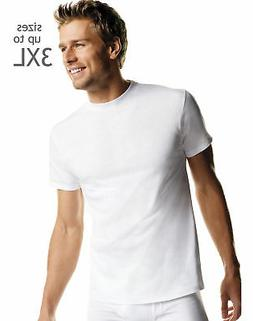 Hanes Mens White T-Shirts Undershirts TAGLESS Crewneck 5-Pac