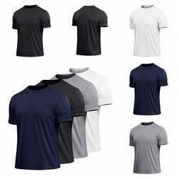 Mens Workout T Shirt Dry Fit Moisture Wicking Tee For Fitnes