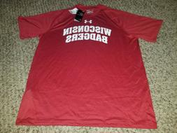 Mens XL Under Armour Wisconsin Badgers Tshirt New With Tags