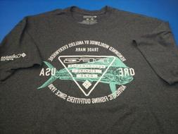 NEW Columbia Men's Graphic T- Shirt PFG Spell out Sportswear