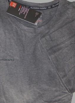 NEW MENS XXL MICRO GREY STRIPE UA UNDER ARMOUR CHARGED COTTO