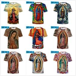 Our Lady of Guadalupe 3D Printed Summer T-Shirts Women/Men S