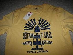 IZOD Saltwater Relaxed Classics Men's T-Shirt Small NWT