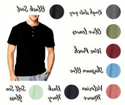 Hanes T-shirts Men's 1901 Heritage Dyed Short Sleeve Henley
