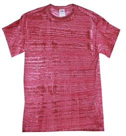 T-shirts Red Stripe Adult S to 3XL 100% Cotton Colortone for