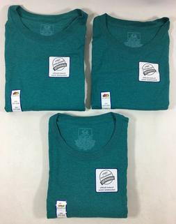 Fruit of the Loom Teal Green Cotton Blend Crew Neck T-Shirt