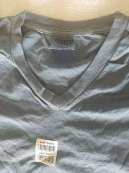 V Neck 100% Cotton Tee country blue  Men Or Women New comfor
